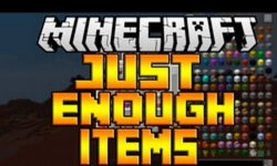 Мод Just Enough Items (JEI)