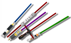 ТекстурПак Glowing Lightsabers in 3D