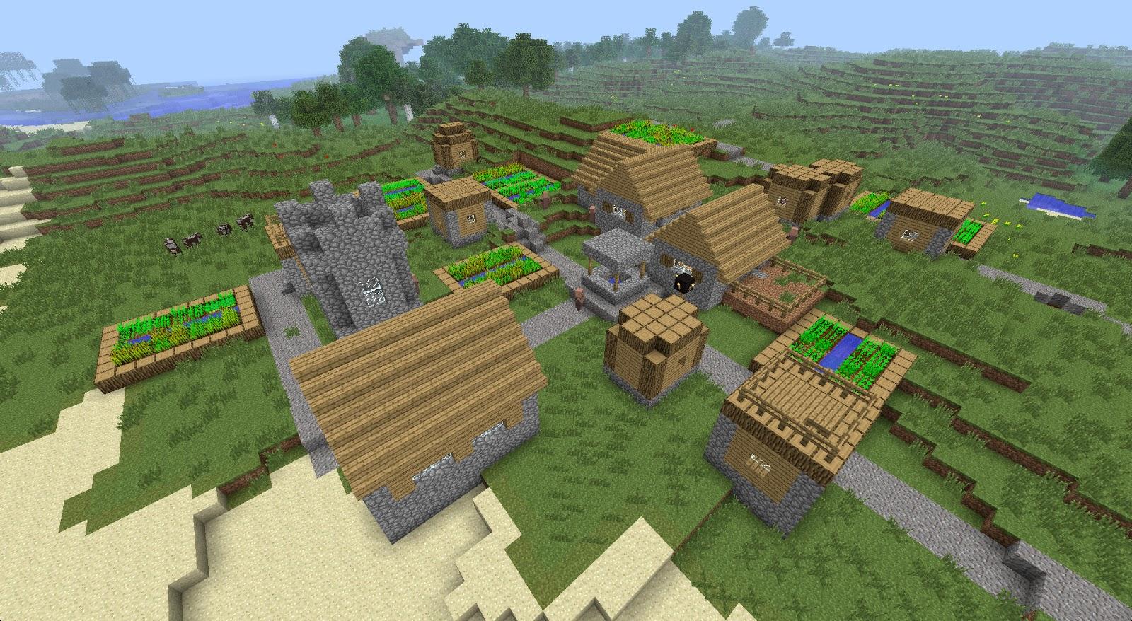 Сид на майнкрафт 1.12.1 на деревню с домиком ведьмы