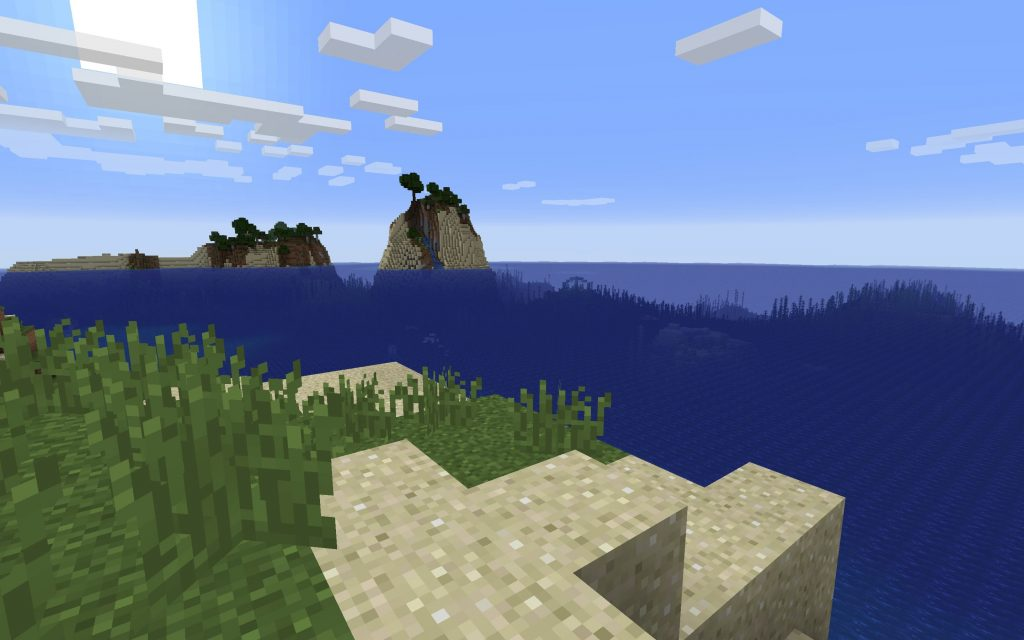 Island Spawn - Ocean Monument in View