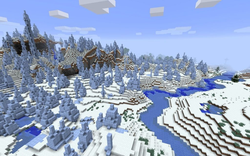 Frozen River by Ice Spike Seed