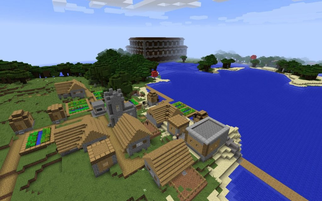 Village and Woodland Mansion