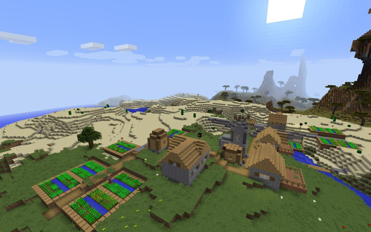 Blacksmith Village with Iron Armor