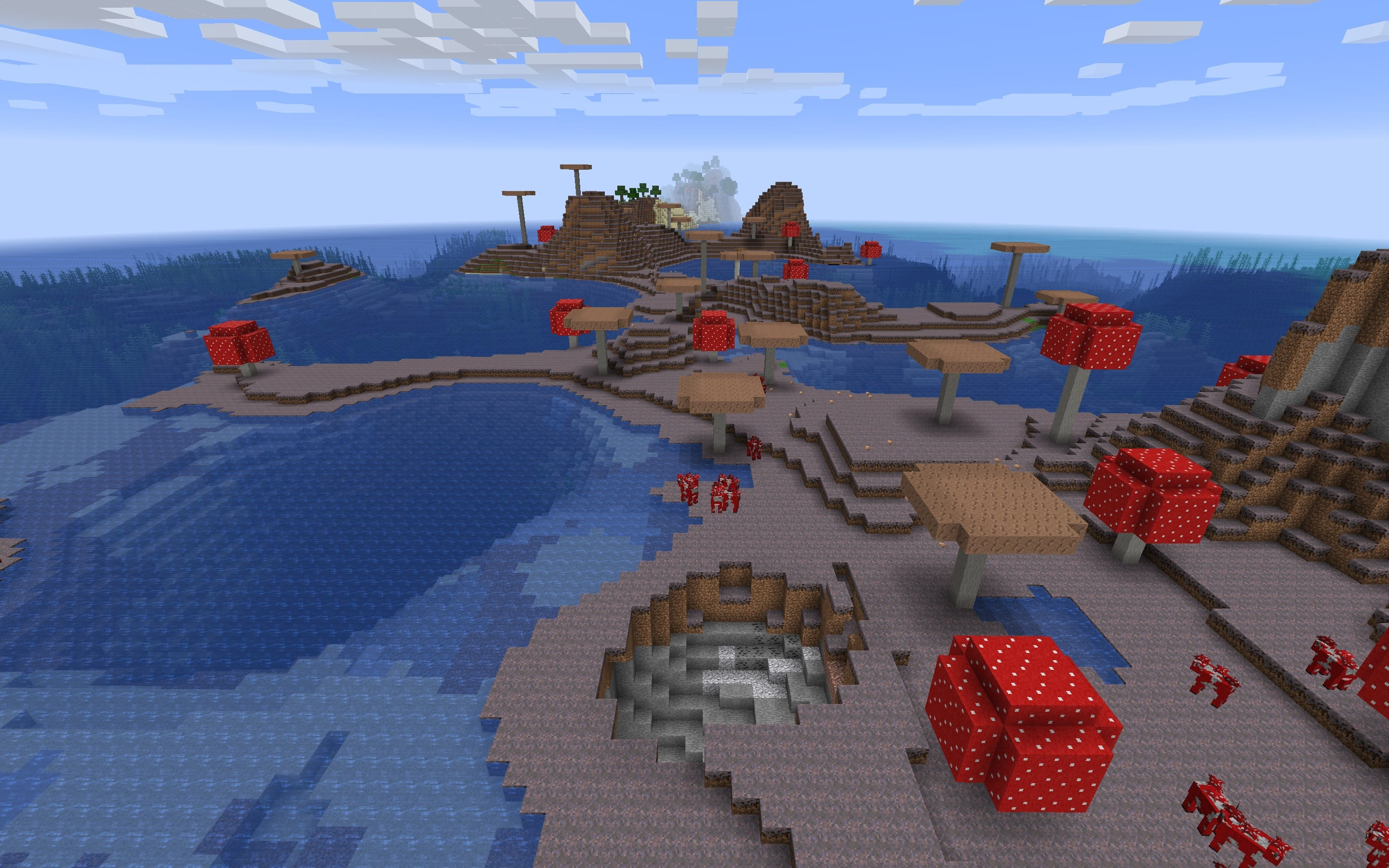 Mushroom Island with Migrating Mooshrooms