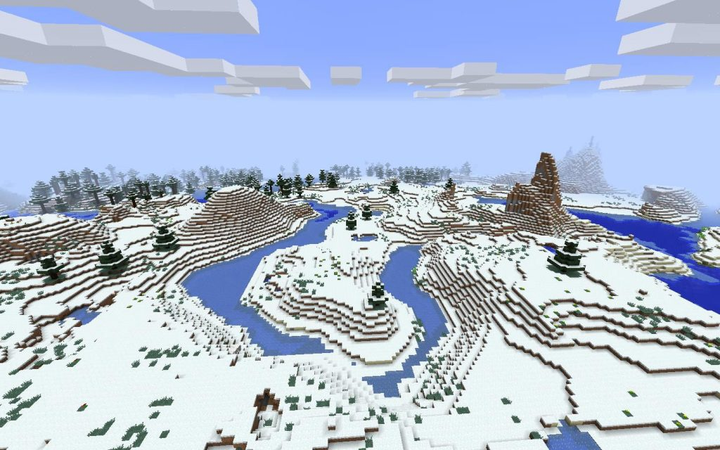 Cold Biomes, Frozen River and Ice Spikes
