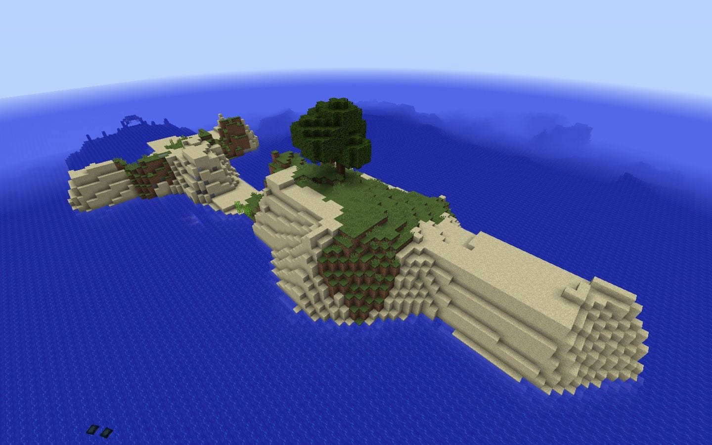One Tree Survival Island plus Ocean Monument