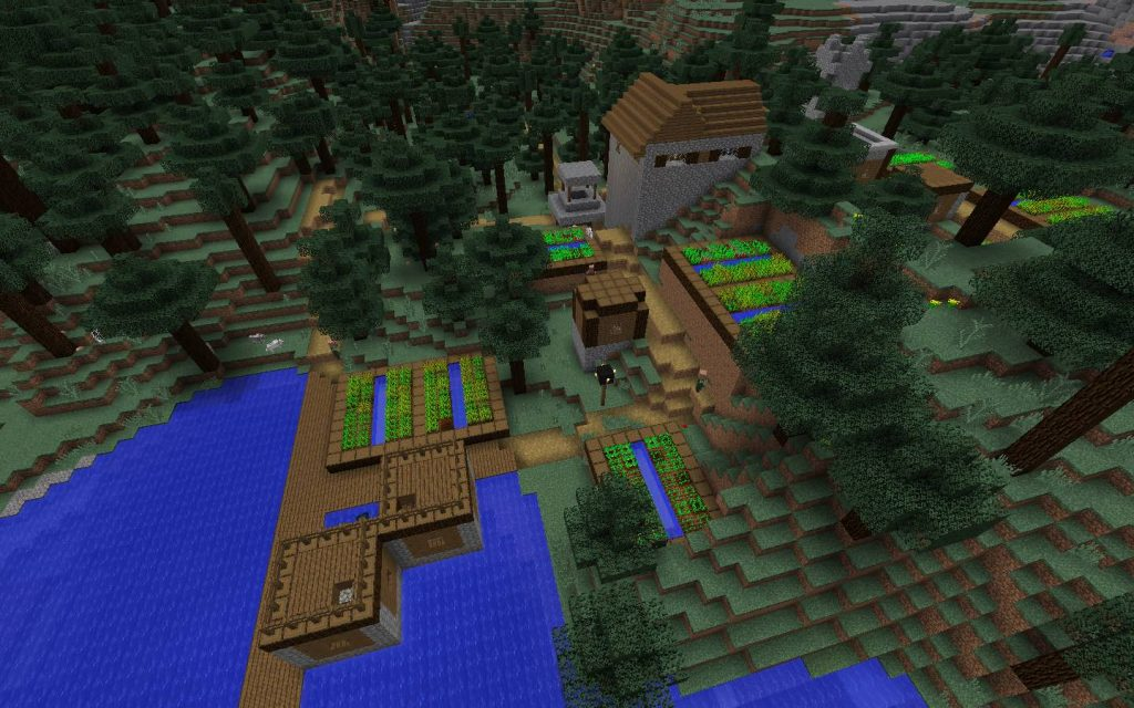 Blacksmith Village from Above
