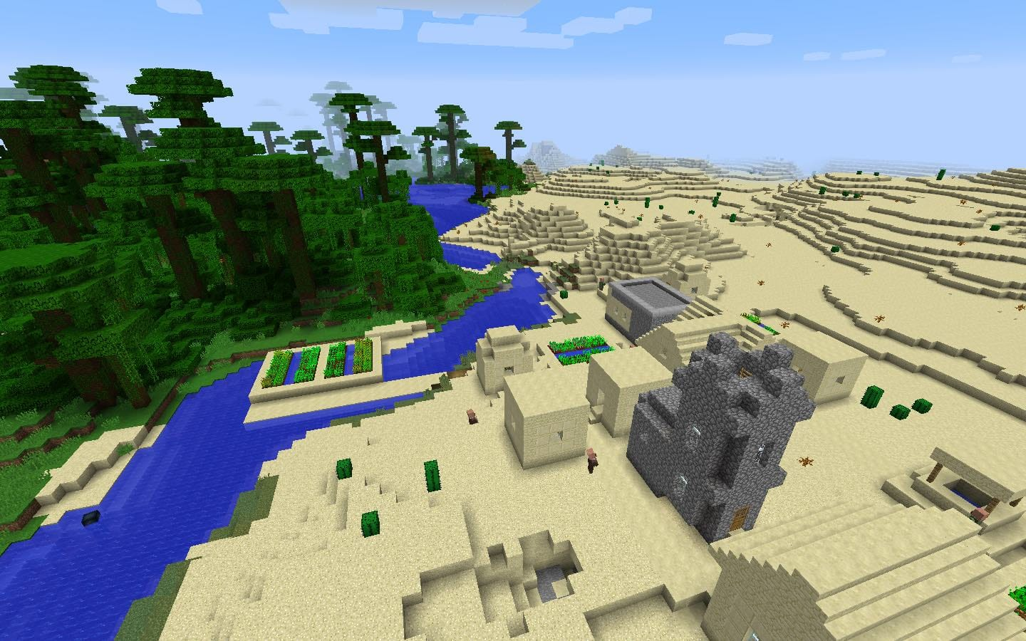 Tropical Jungle and Desert Blacksmith Village