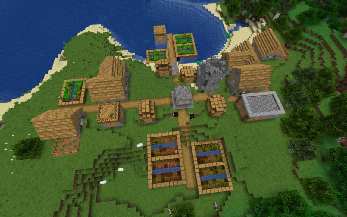 майнкрафт сиды на деревню #2